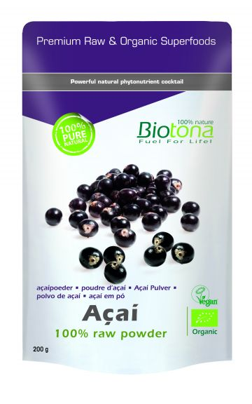 Açai raw powder 200gr Biotona