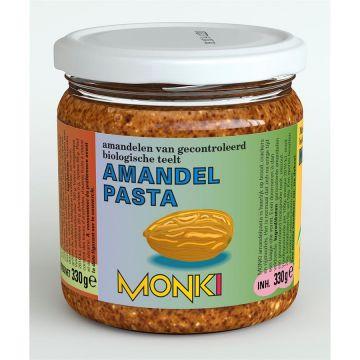Amandelpasta met zout 330gr Monki