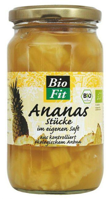 Ananas schijfjes 350gr Bio Fit