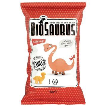 Babe maïschips ketchup 50gr Biosaurus