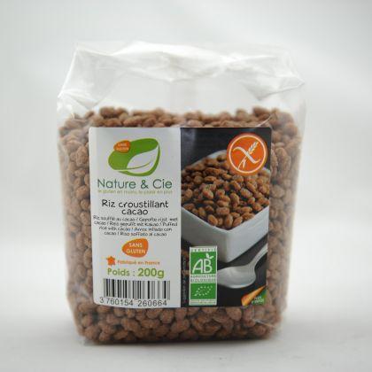 Bio chocolade-rijstcrispies 200gr N&C