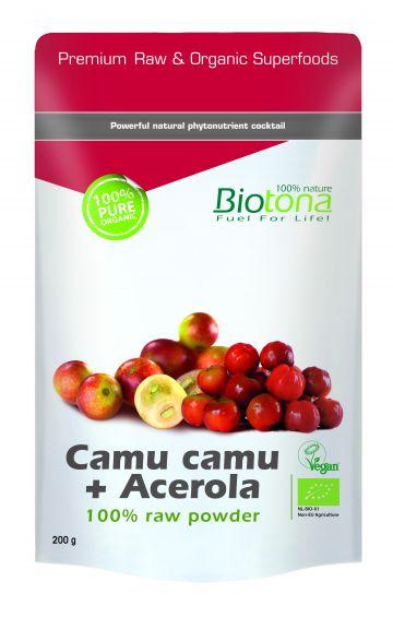 Camu camu + Acerola raw powder 200gr Biotona