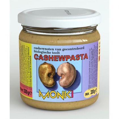 Cashewpasta z. zout 330gr Monki