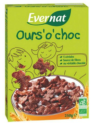 Cereal chocoberen 250gr Evern.