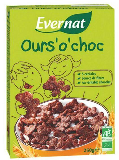 Cereal chocoberen 250gr Evern.