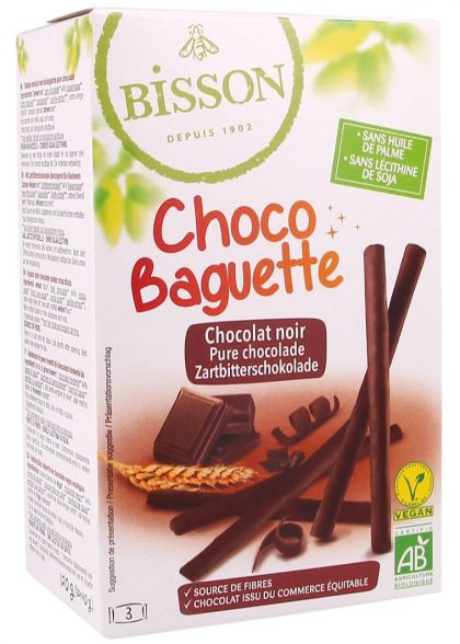 Choco baguette pure chocolade 120gr Bis.