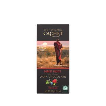Chocolade puur 57% bosvrucht 100gr Cachet