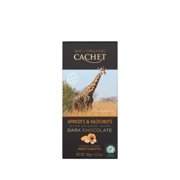 Chocolade puur abrikoos/noot 100gr Cachet