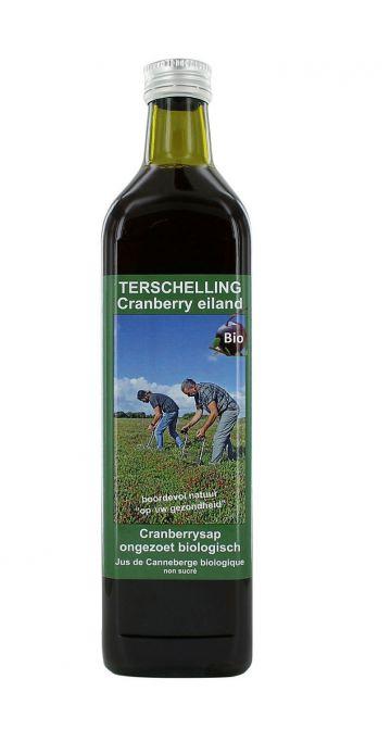 Cranberrysap ongezoet 750ml Terschell.