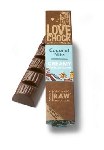 Creamy coconut/nibs reep 40gr LC