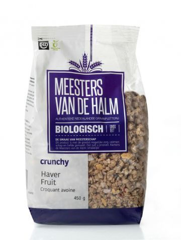 Crunchy haver fruit 450gr De Halm