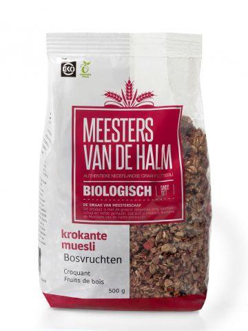 Crunchy muesli forest fruit 500gr De Halm