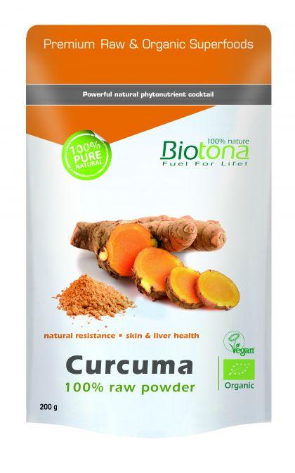 Curcuma raw powder 200gr Biotona