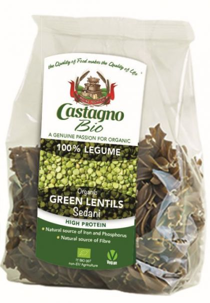 Fusilli 100% groene linzen pasta 250gr CAS