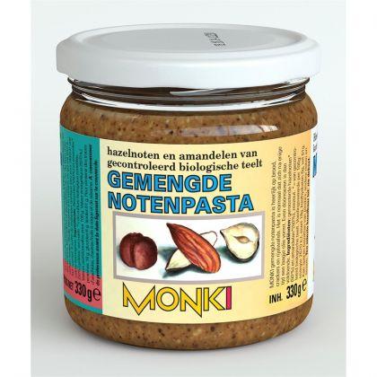 Gemengde notenpasta met zout 330gr Monki