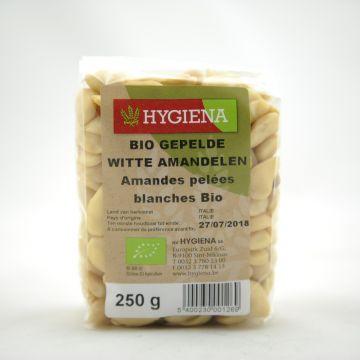 Gepelde witte amandelen 250gr Hygiena