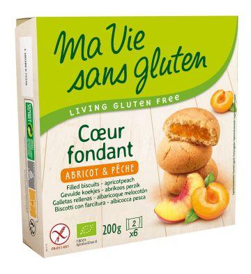 Gevulde koek abrikoos-perzik 200gr MVSG