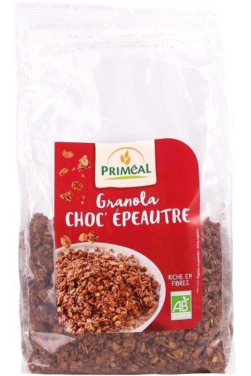 Granola spelt chocolade 500gr Priméal