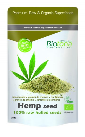 Hemp raw hulled seeds 300gr Biotona