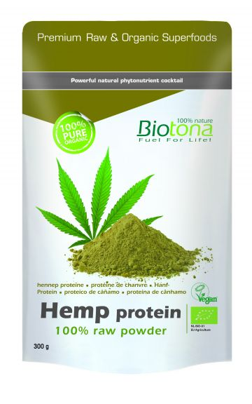 Hemp raw protein powder 300gr Biotona