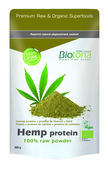 Hemp raw protein powder 300gr Biotona