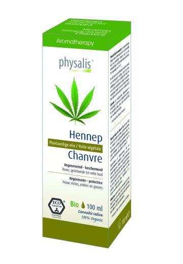 Hennep plant. olie Physalis