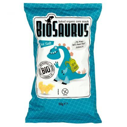 Junior maïschips zeezout 50gr Biosaurus