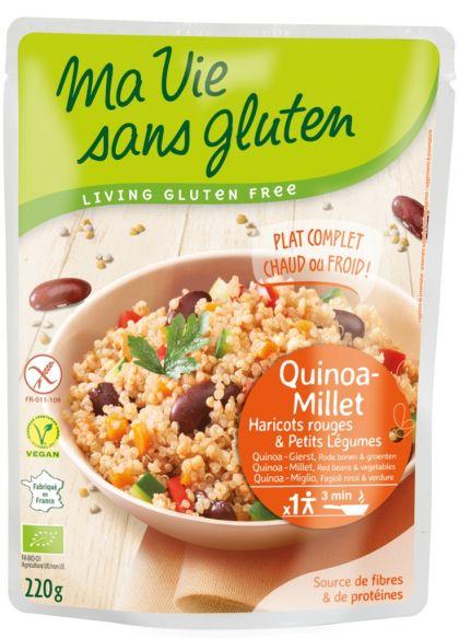 Maaltijd quinoa, gierst, groenten 220gr MVSG