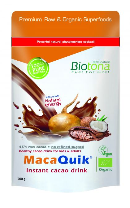MacaQuik instant cacao drink 200gr Biotona