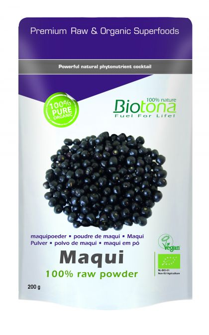 Maqui raw powder 200gr Biotona