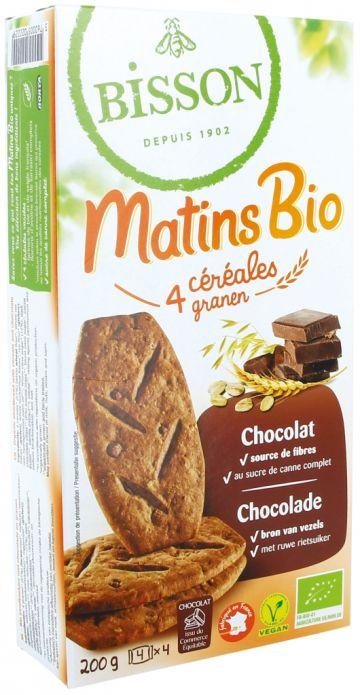 Ontbijtkoekjes 4 granen-chocolade Bis.