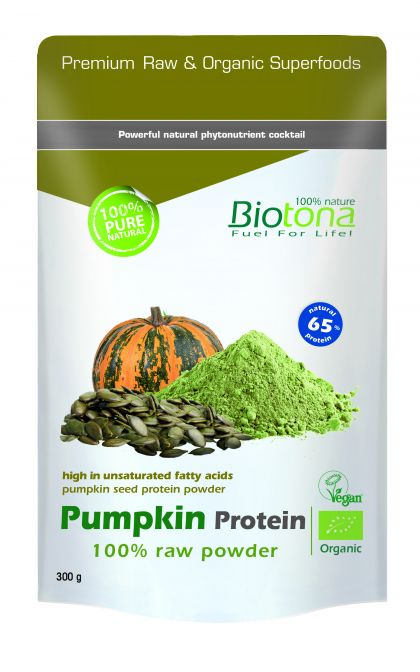Pumpkin protein raw powder 300gr Biotona