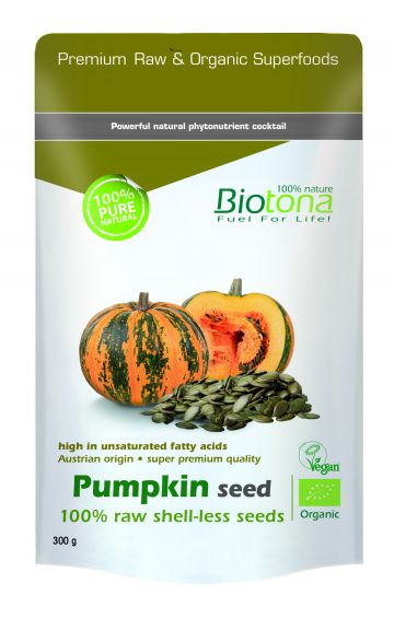 Pumpkin seeds raw 300gr Biotona