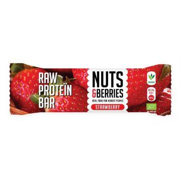 Raw proteïn bar aardbei N&B