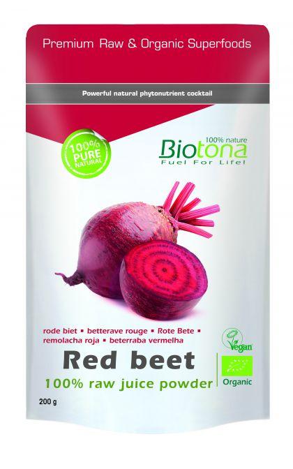 Red beet raw powder 200gr Biotona