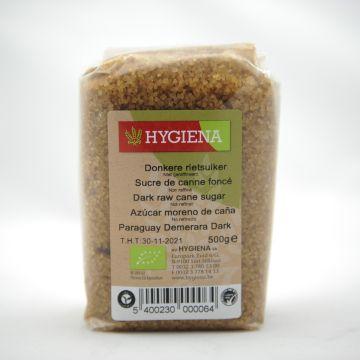 Rietsuiker donker 500gr Hygiena