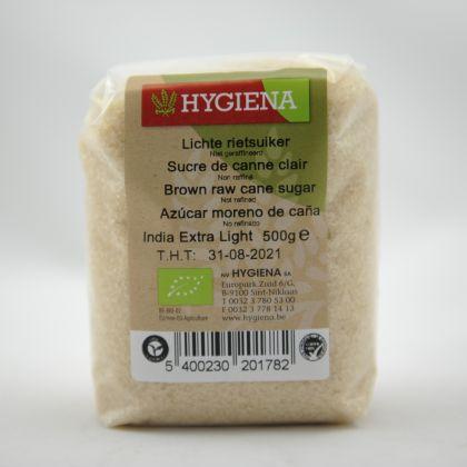 Rietsuiker licht 500gr Hygiena