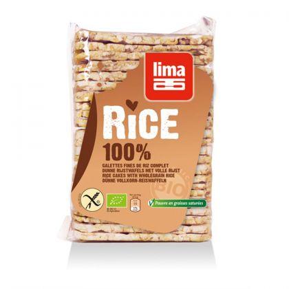 Rijstwafel dun rechthoekig m.z. 130gr Lima