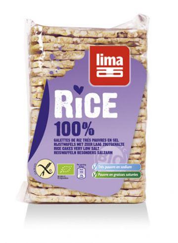 Rijstwafel dun rechthoekig z.z. 130gr Lima