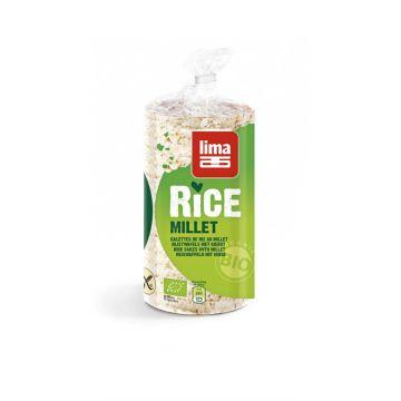 Rijstwafel gierst 100gr Lima