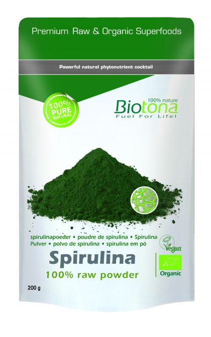 Spirulina raw powder 200gr Biotona