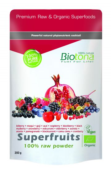 Superfruits raw powder 200gr Biotona