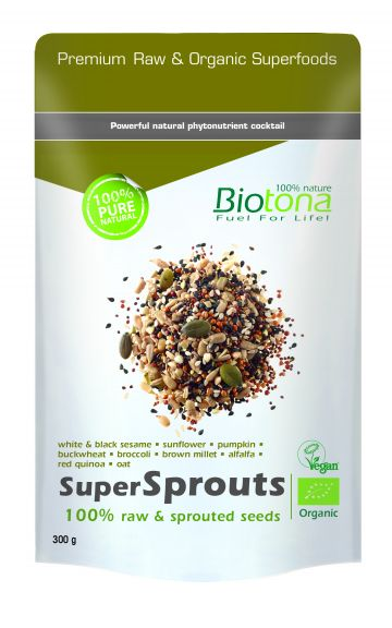 SuperSprouts raw seeds 300gr Biotona