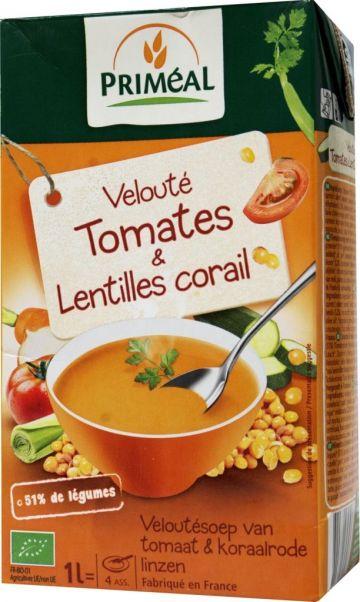 Tomaten en rode linzen velouté 1L Primeal