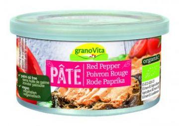 Vegan paté rode paprika 125gr Granovita