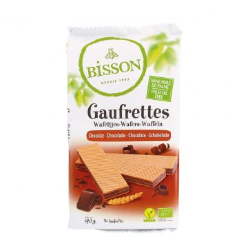 Wafeltjes chocolade 190gr Bis.