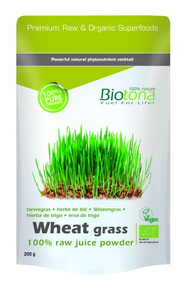 Wheat grass raw juice powder 200gr Biotona