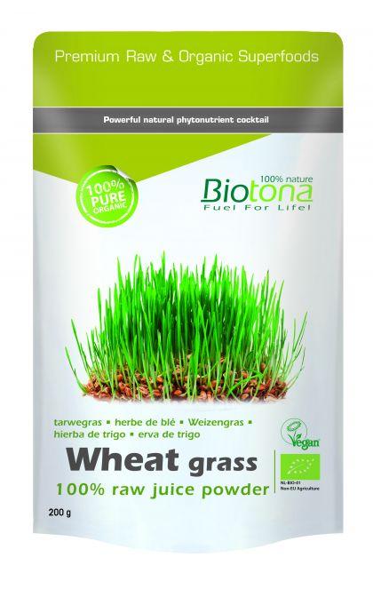 Wheat grass raw juice powder 200gr Biotona