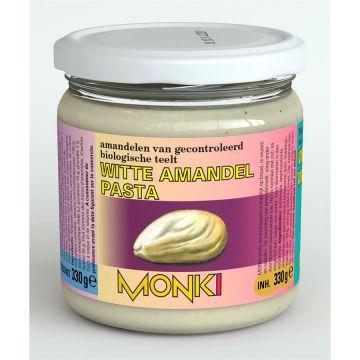 Witte amandelpasta z. zout 330gr Monki