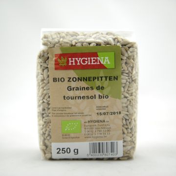 Zonnebloempitten 250gr Hygiena